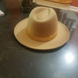 Other - Gold link fedora unisex hat